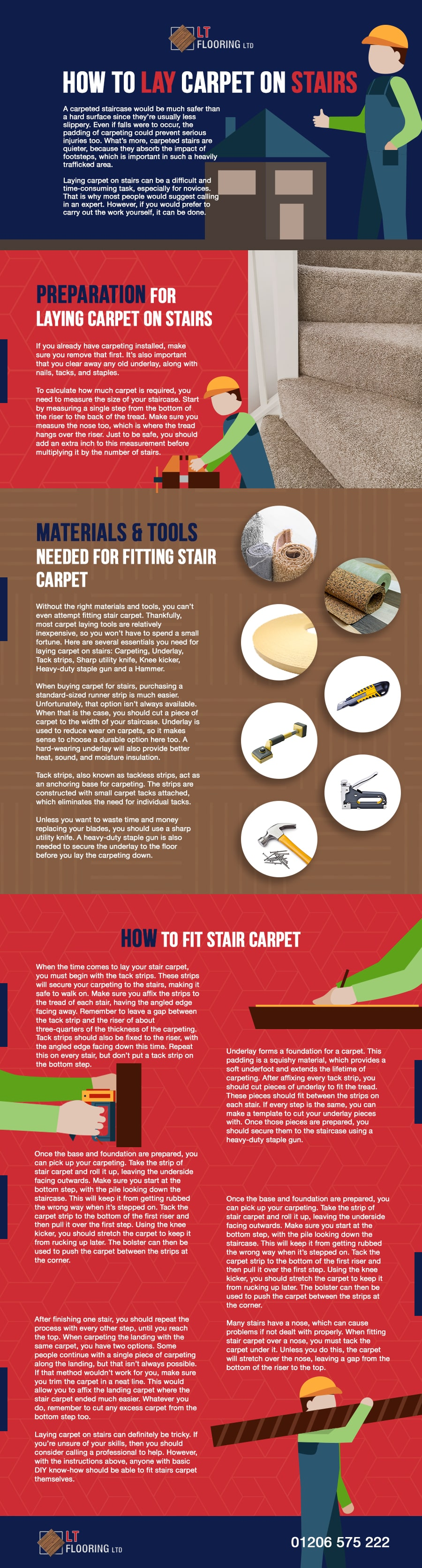 how to lay carpet infographic