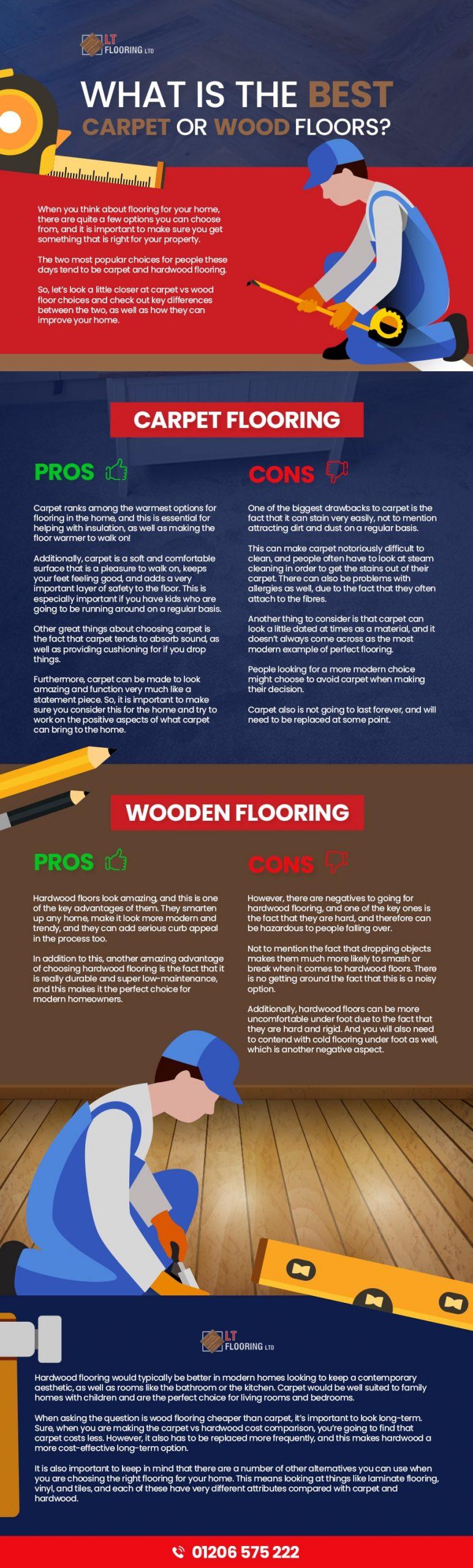 carpet or wood floor infographic