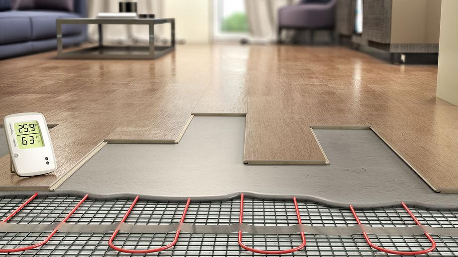 underfloor hearing with laminate flooring